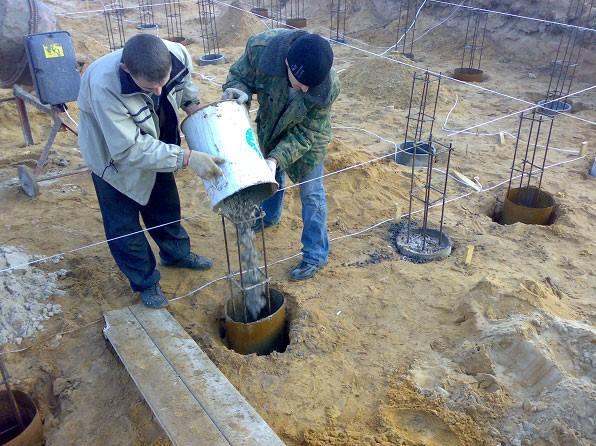 приемка бетона в скважину