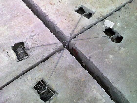 крепление плит перекрытия анкерами