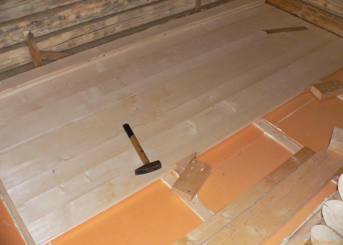 монтаж деревянного пола