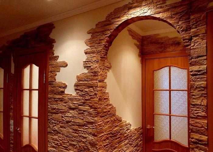 арка из декоративного камня