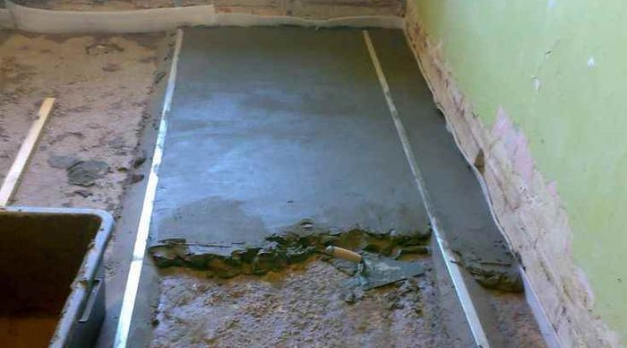 бетонная стяжка
