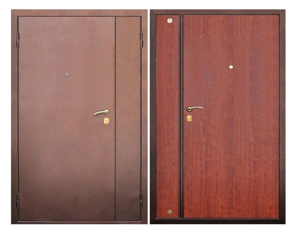 металлическая входная дверь с двумя створками