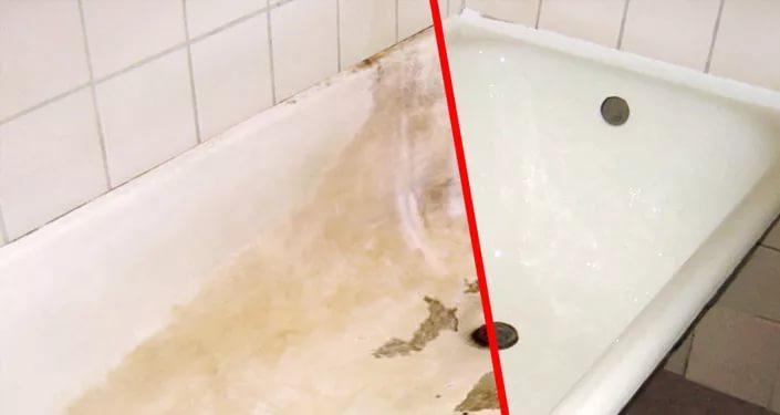 сколы на чугунной ванне