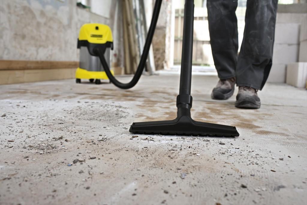 чистка бетонного пола перед гидроизоляцией