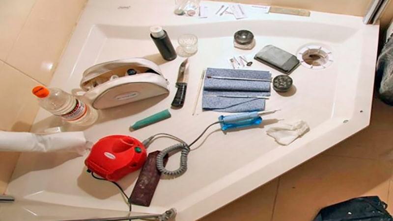 инструмент для ремонта акриловой ванны