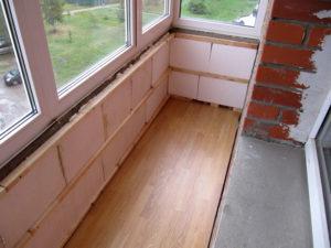 Утепление балкона пенопластом своими руками