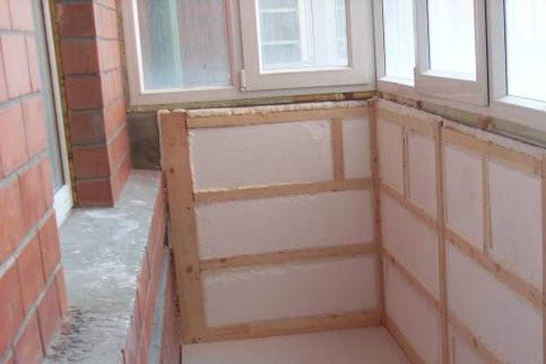 балкон утепляем пенопластом