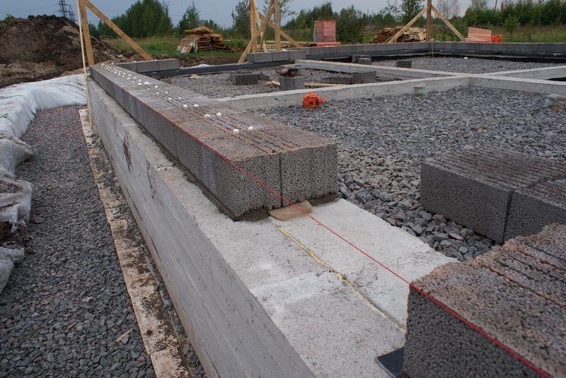 фундамент для дома из керамзитовых блоков