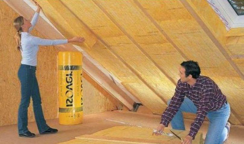 Утепление крыши мансарды изнутри