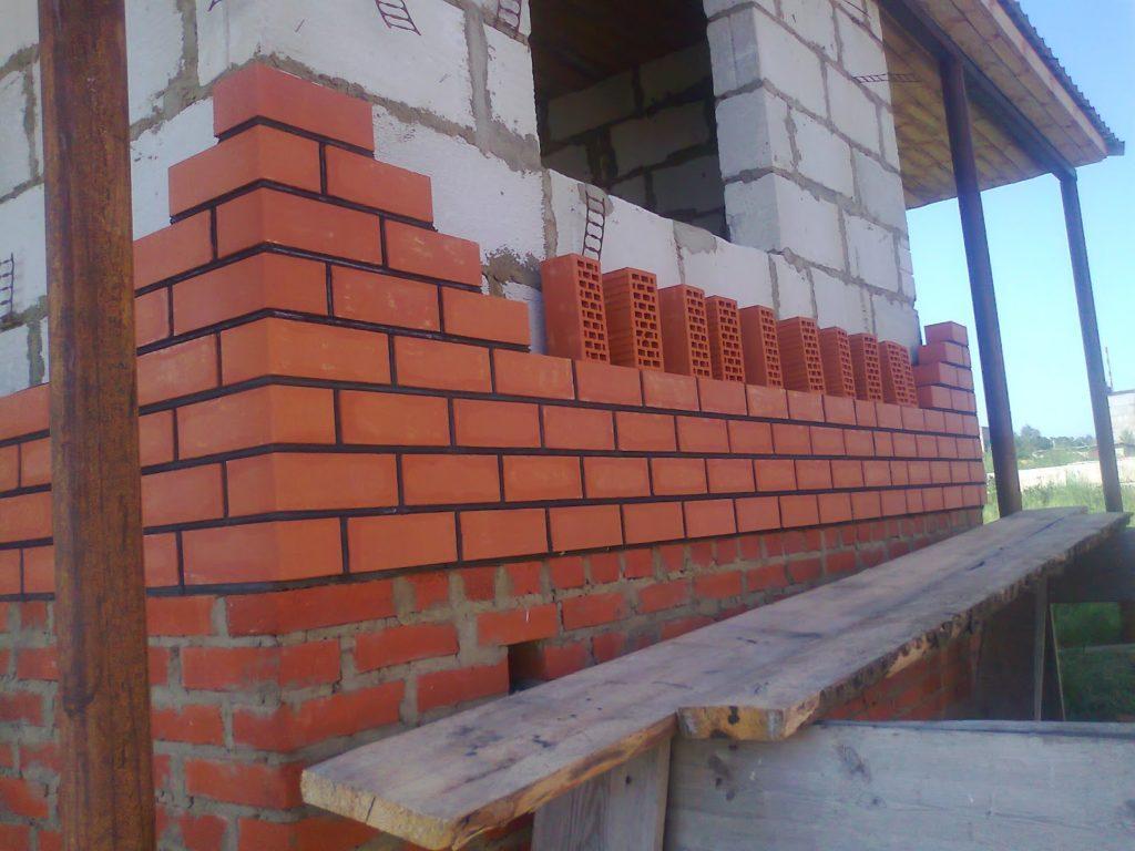 Дом из красного кирпича своими руками 97