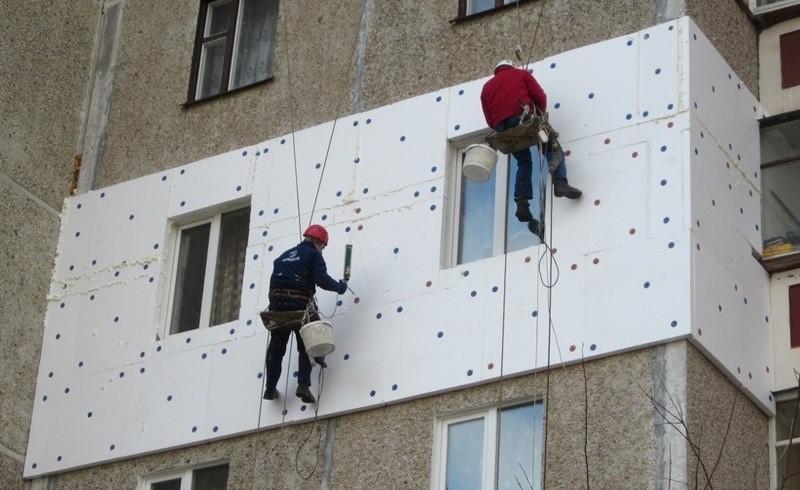 утепление панельных стен пенопластом