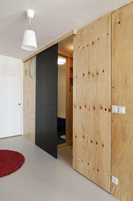 раздвижные двери из фанеры