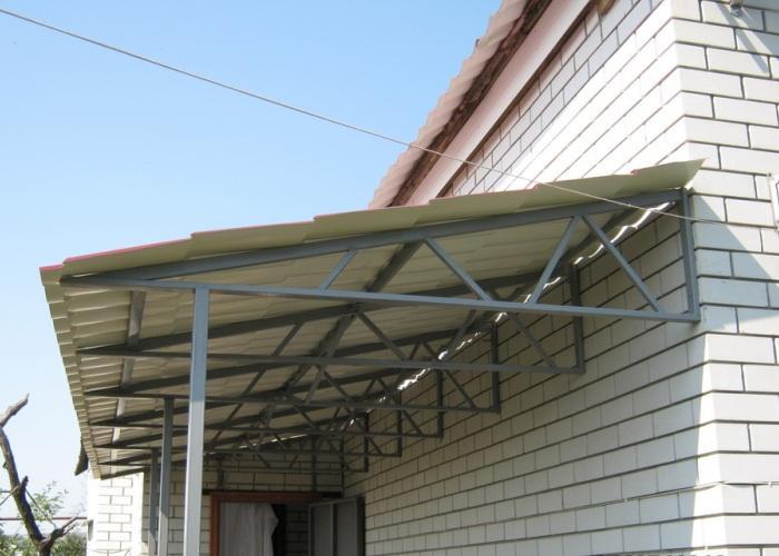 крыша навеса под уклоном