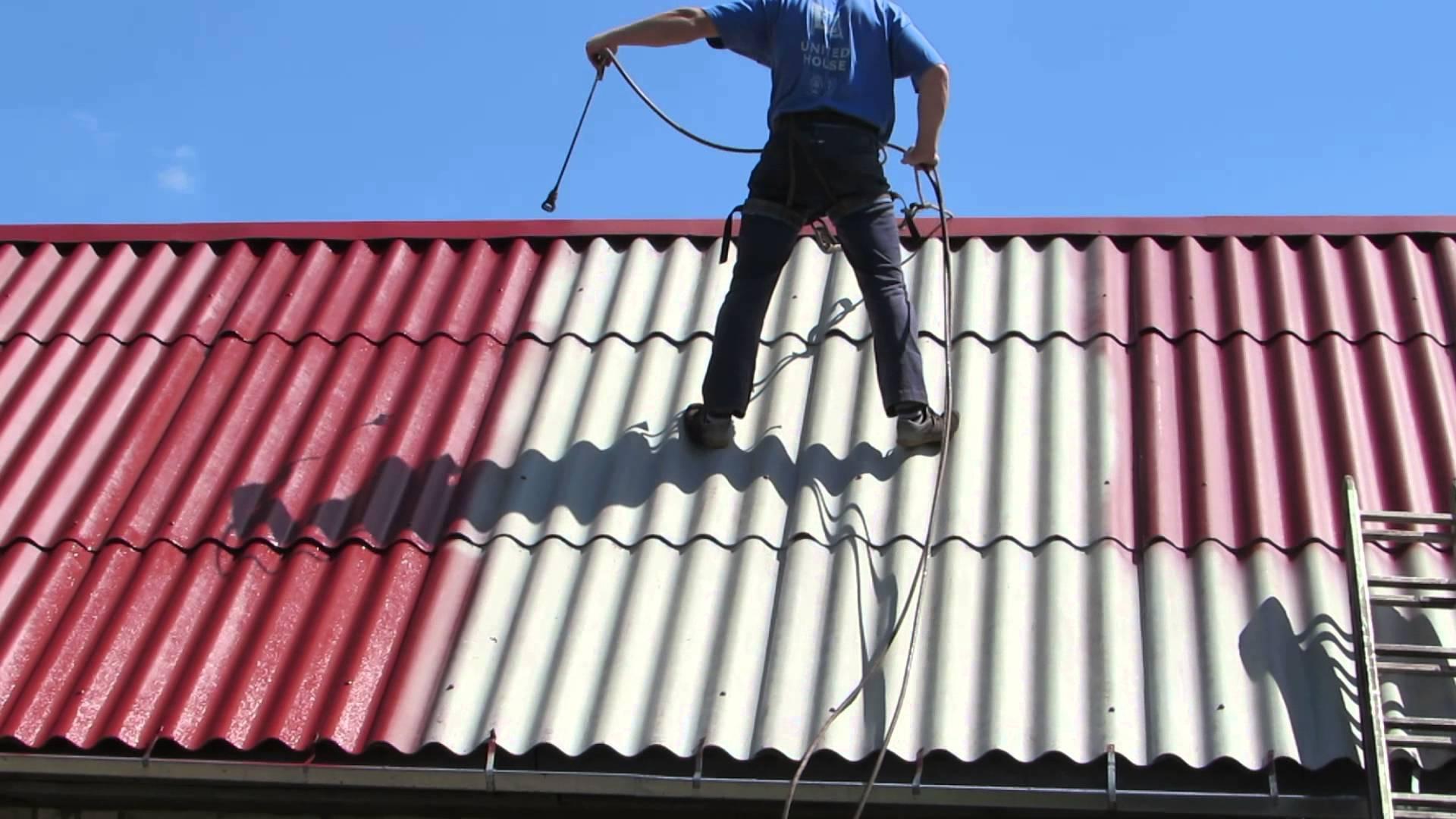 как покрасить шифер на крыше