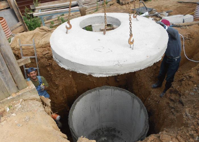 как правильно устанавливать бетонные кольца