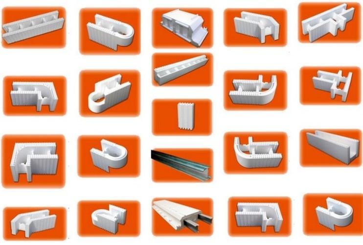 виды блоков из пенополистирола