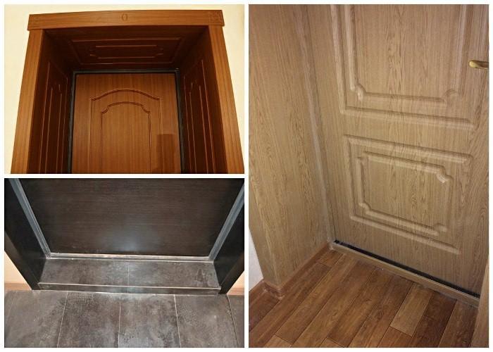 установка доборов двери