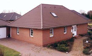 Четырехскатная крыша дома