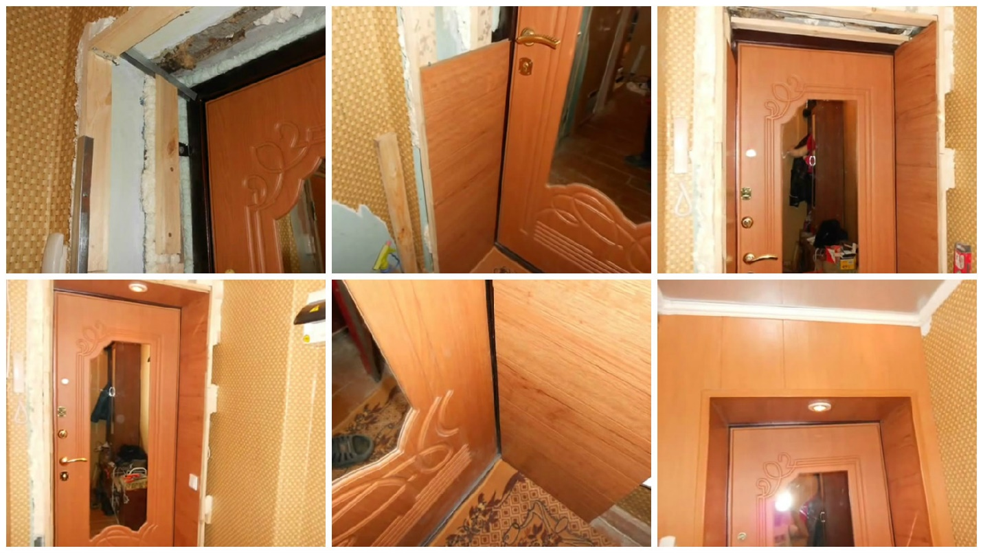 Установка двери фото пошагово