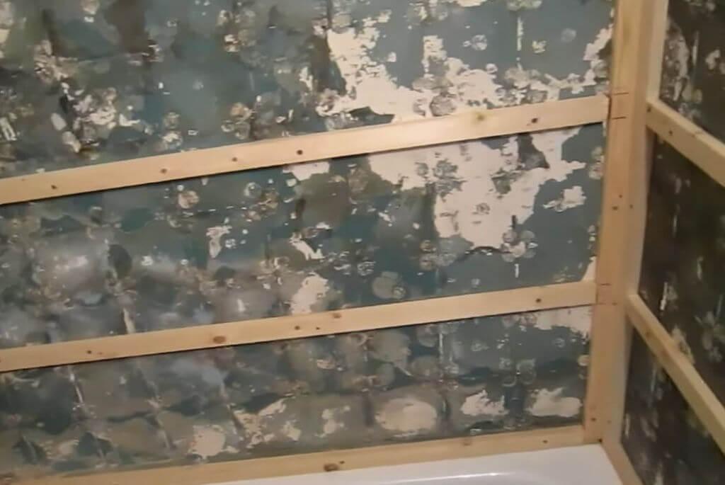 Крепление деревянного бруса к стене