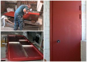 Окрашивание металлической двери