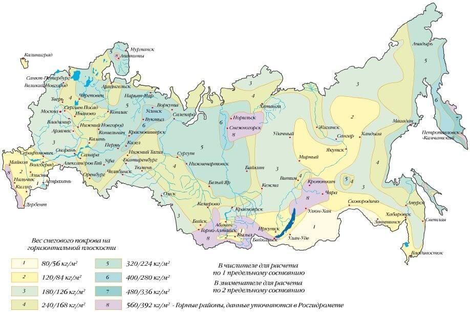 Карта выбора места для фундамента