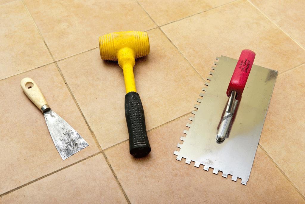 Инструмент для кладки плитки на стену