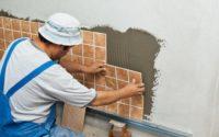 Укладка плитки на стенку
