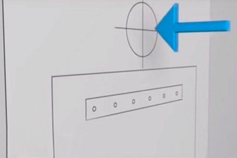 Схема разметки под котел