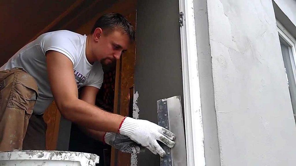 Штукатурка откосов как своими руками штукатурить проемы после установки пластиковых окон отделка проемов входной двери