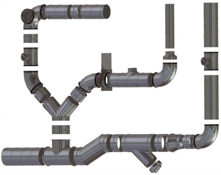 Тройники и соединители воздуховода пластикового