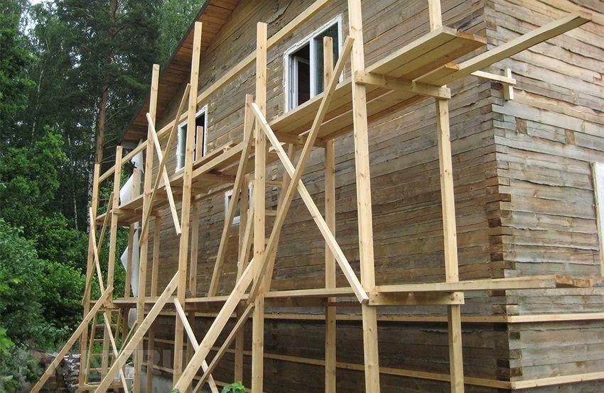 Деревянные строительные леса