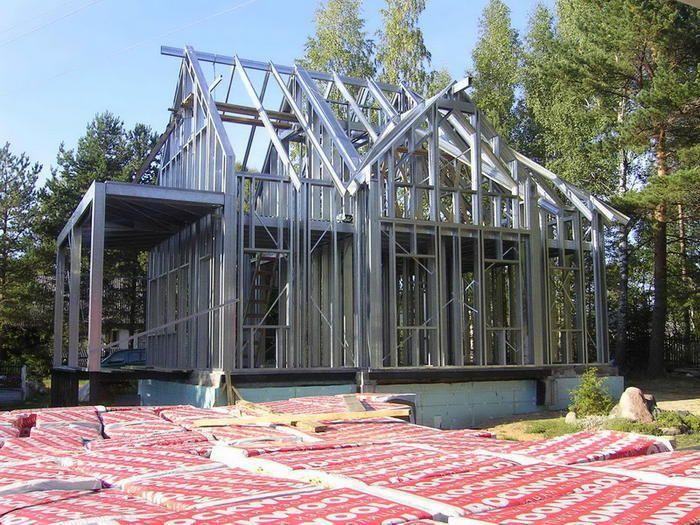 Металлический каркасный дом