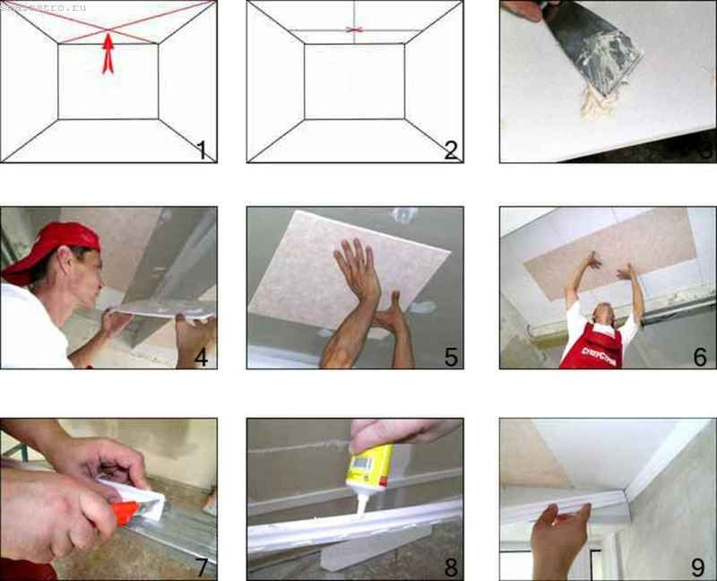 Пошаговая инструкция потолок на кухне своими руками