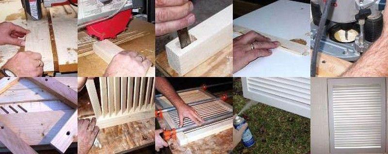 Этапы изготовление деревянных дверей жалюзи самостоятельно
