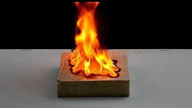 Полистирол горение