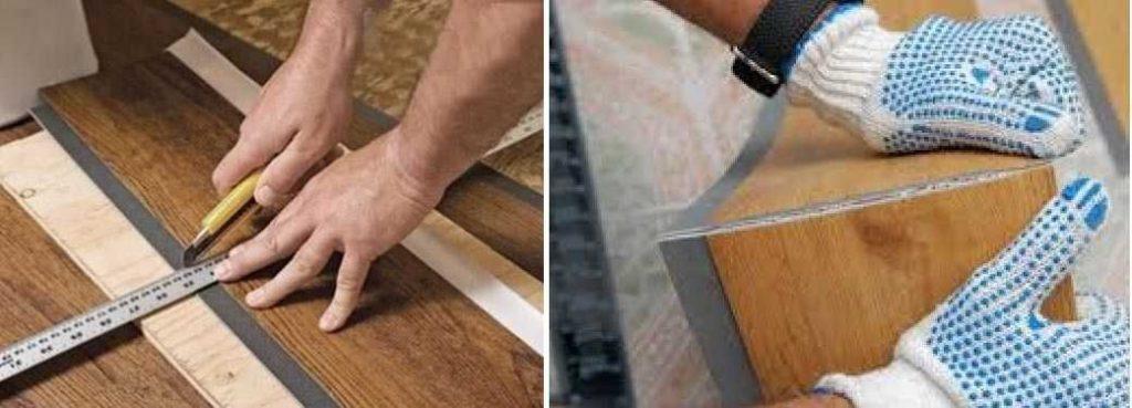 Разметка и обрезка плитки