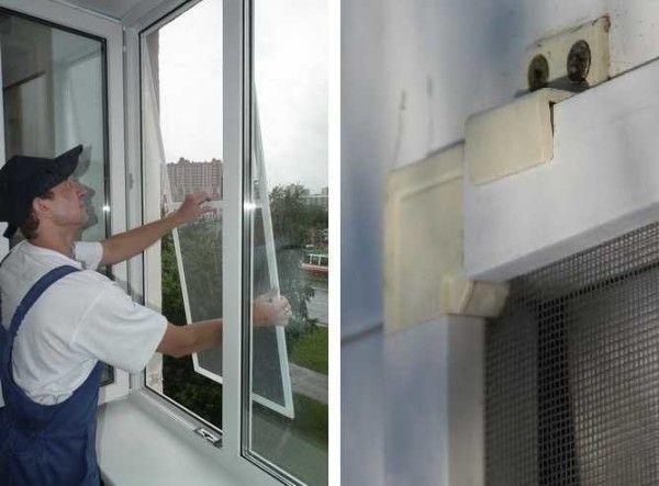крепление москитной сетки на окно