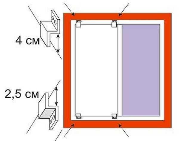 Схема крепление москитной сетки на пластиковые окна