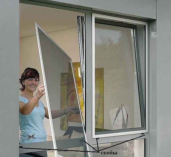 Установка москитной сетки на пластиковые окна