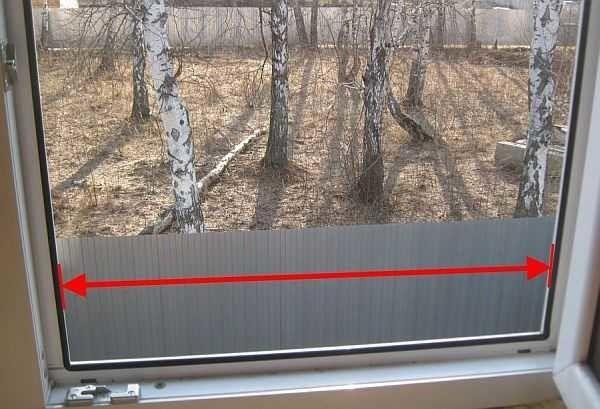 Замеры окна под установку москитной сетки
