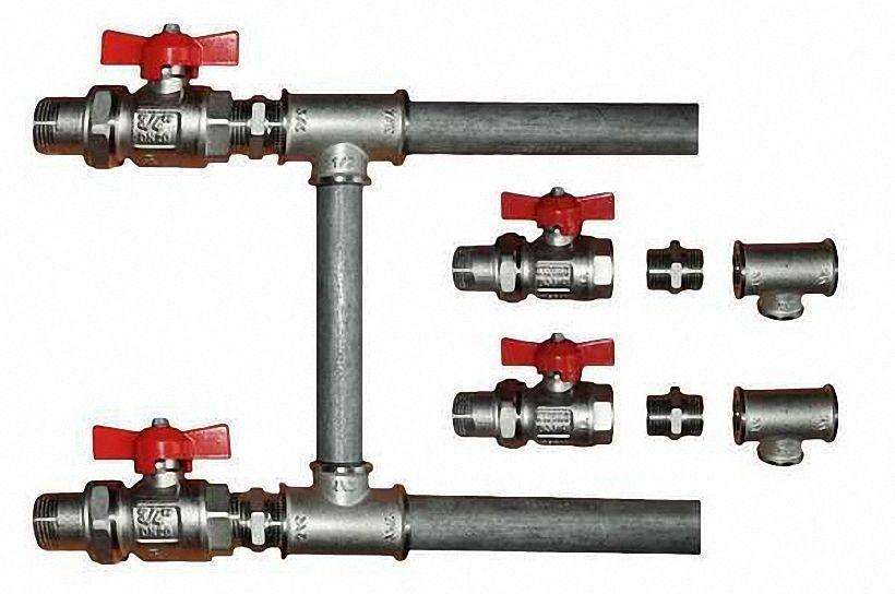 Монтаж соединения радиаторов