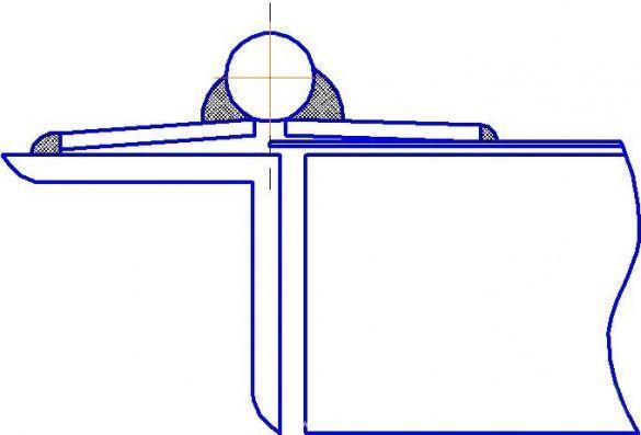 Чертеж завеса для металлической двери