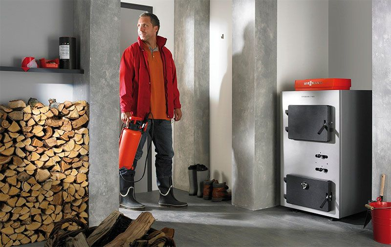 Котел на твердом топливе для дома