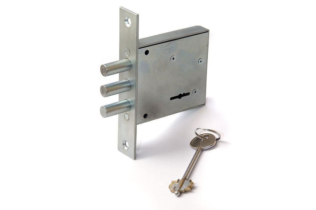 Замок врезной для металлической сварной двери