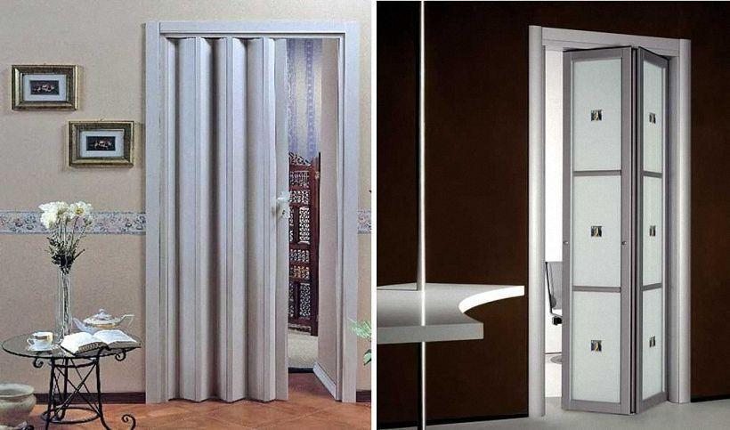 Варианты конструкций дверей в туалет и ванную