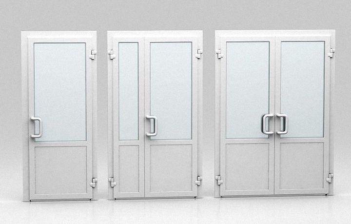 дверь из ПВХ распашная маятниковая