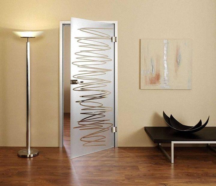 Распашные стеклянные межкомнатные двери