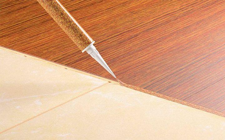 жидкая пробка для стыков ламината и плитки
