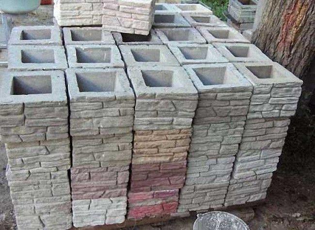 пустотелые блоки для забора